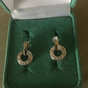 Jewelry - Stirling silver with small diamond earrings